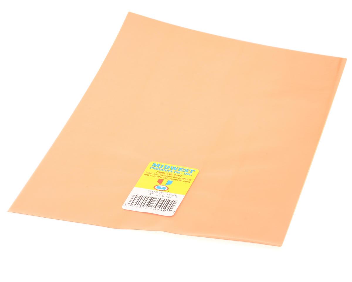 """Midwest .005 x 7.6 x 11"""" PVC Sheet (Peach)"""