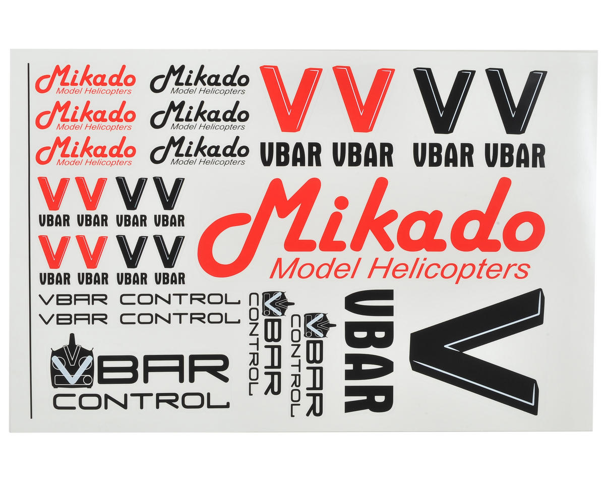 Mikado VBar VControl Decal Set