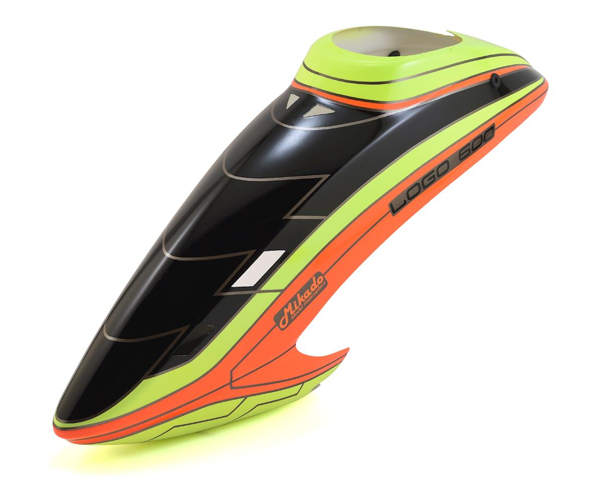Mikado Logo 600SX 600 Canopy (Neon Yellow/Orange) (2017 Edition)