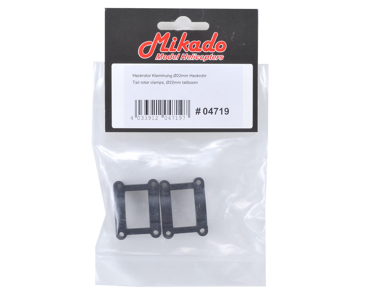 Mikado Tail Rotor Clamp Set (2) (22mm Booms)
