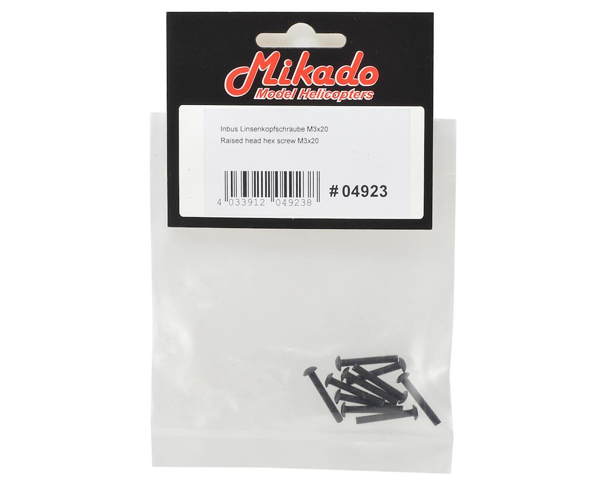 Mikado 3x20mm Button Head Hex Screw (10)