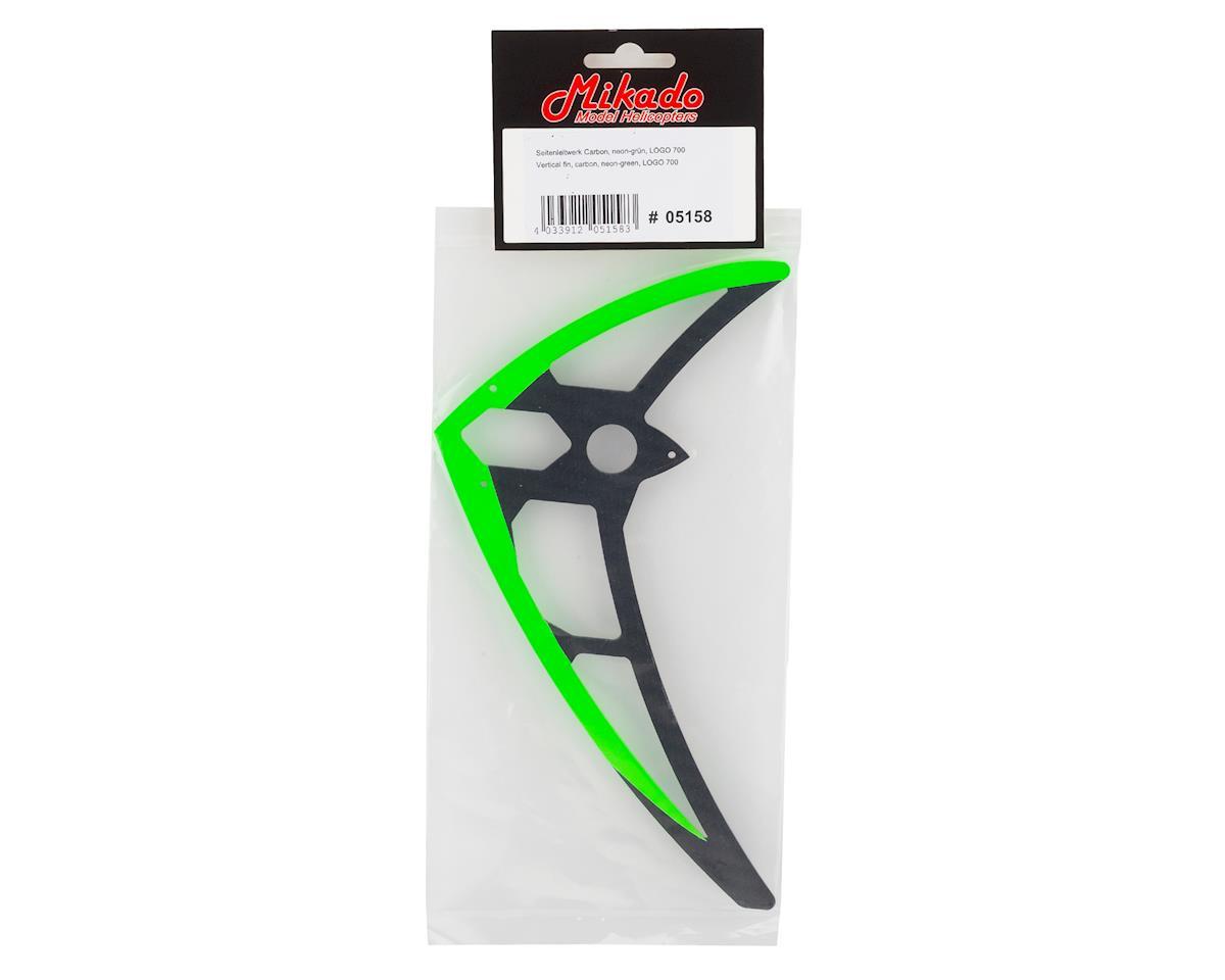 Mikado Logo 700 Carbon Vertical Fin (Green)