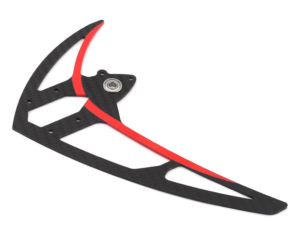 Mikado Logo 550 Carbon Vertical Fin (Red)