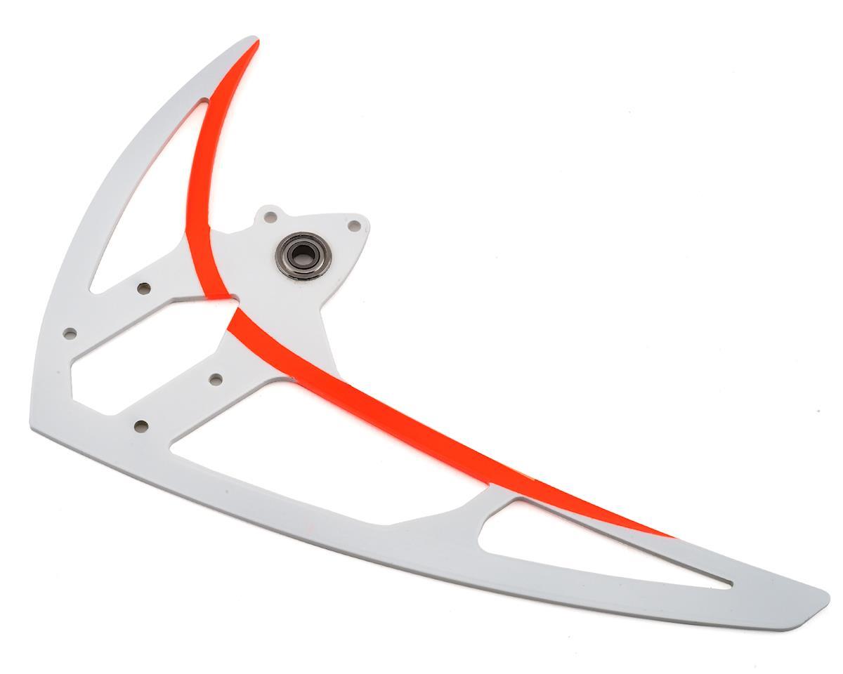 Mikado Logo 550 Carbon Vertical Fin (White/Orange)