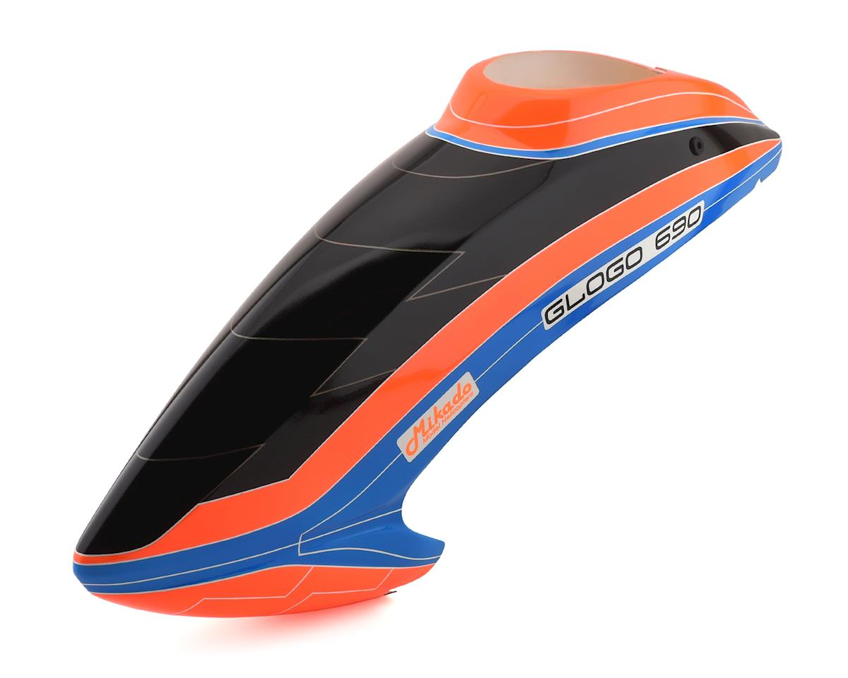 Mikado GLogo 690 Glogo 690SX Canopy (Orange/Blue)