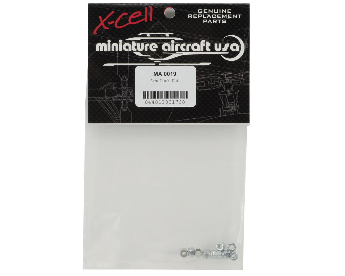 Miniature Aircraft 3mm Lock Nut (10)