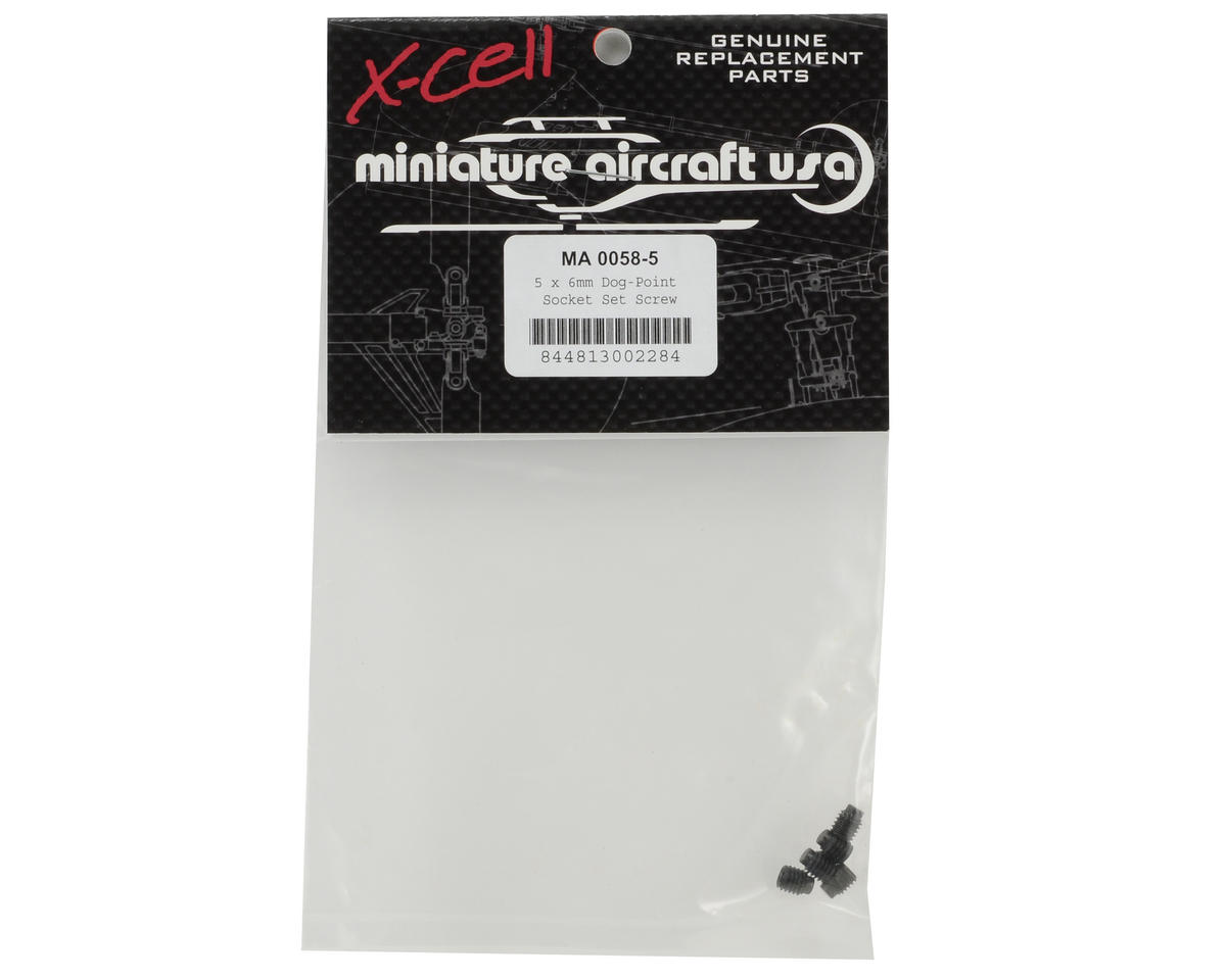 Miniature Aircraft 5x6mm Dog-Point Set Screw (5)