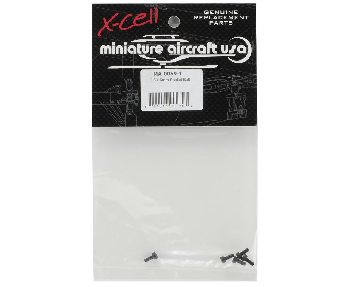 Miniature Aircraft 2.5x6mm Cap Head Screw (5)