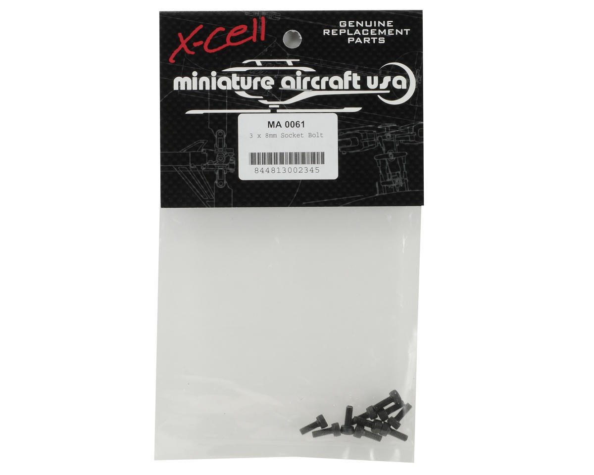 Miniature Aircraft 3x8mm Cap Head Screw (10)