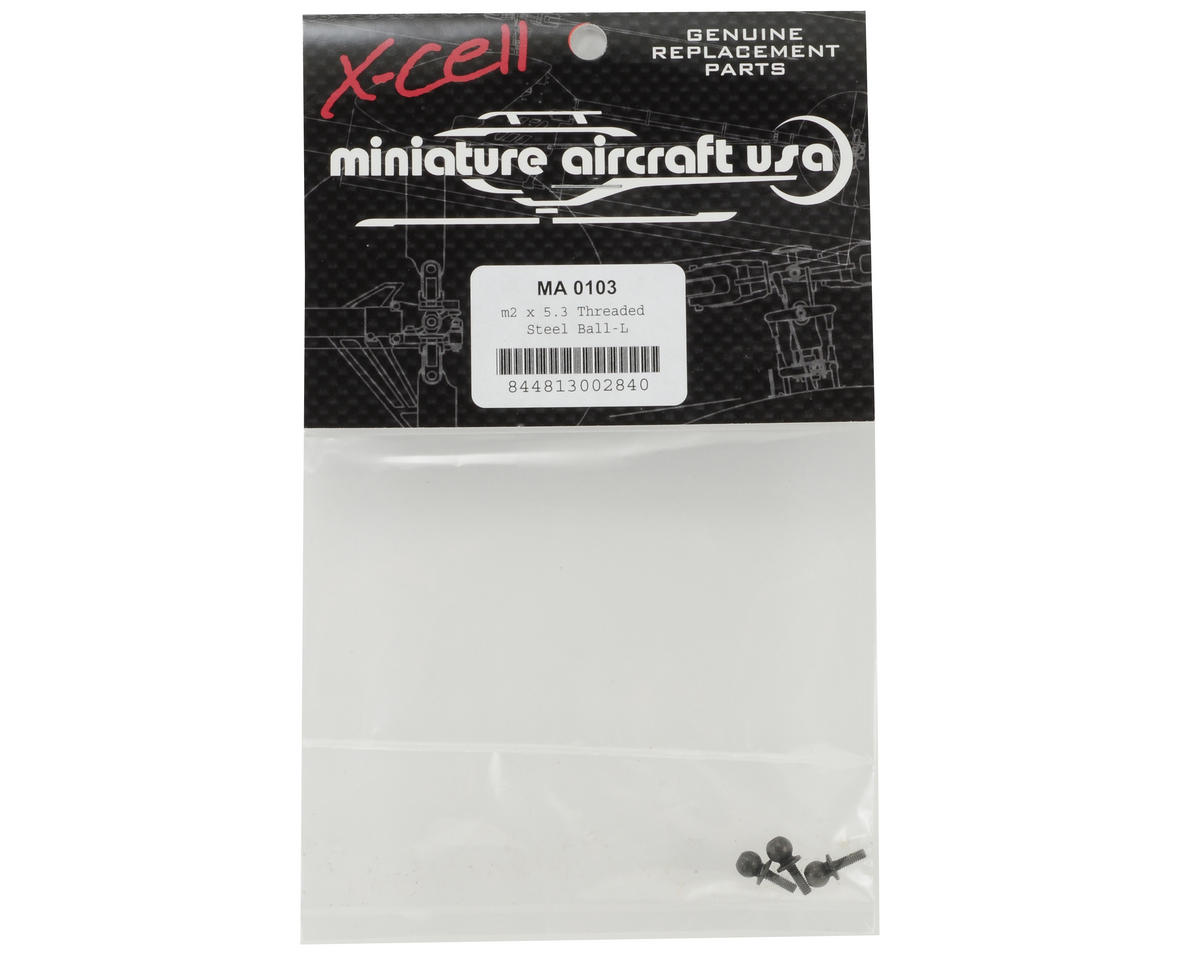 Miniature Aircraft 2x5.3mm Threaded Steel Ball-L Set (3)