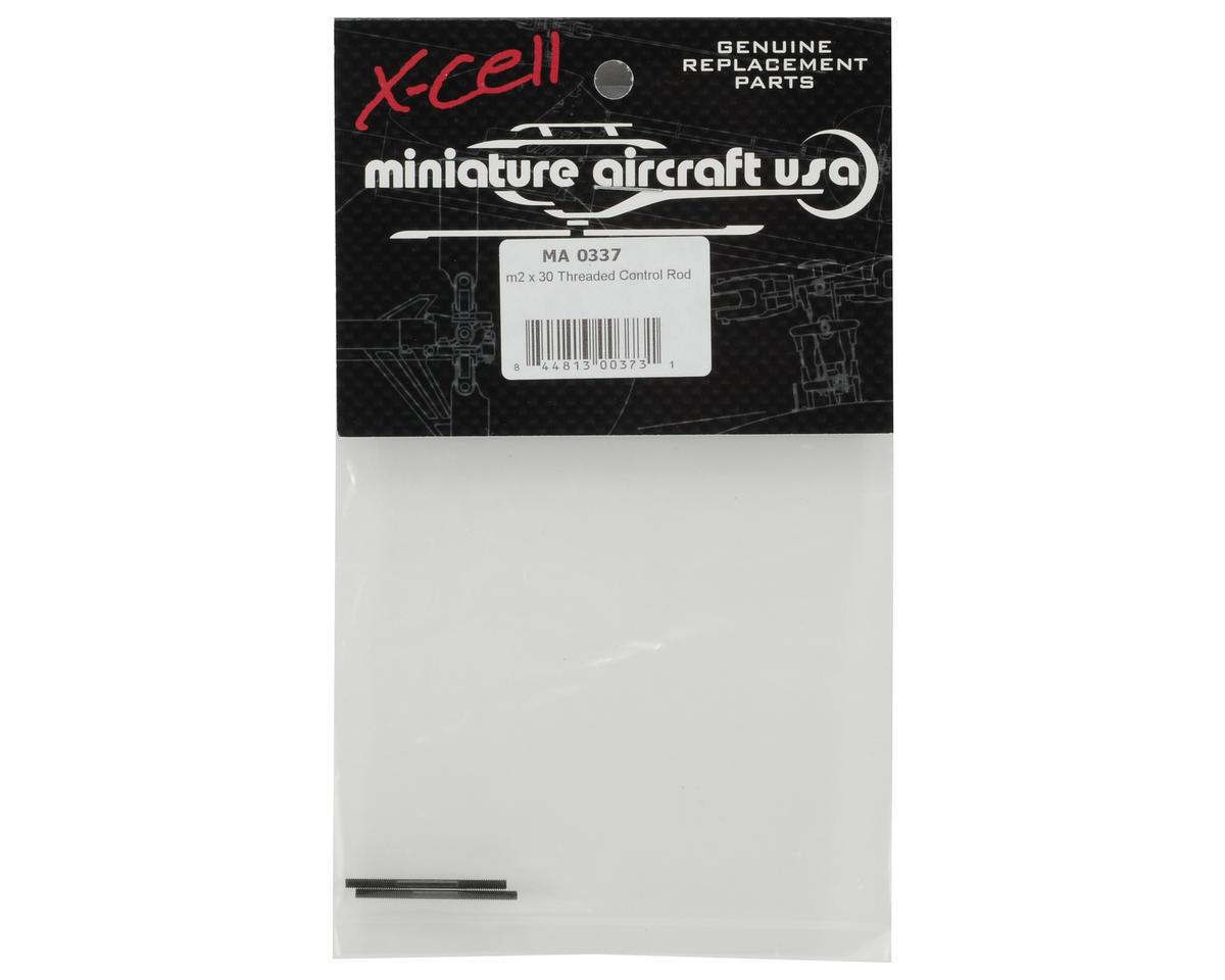 Miniature Aircraft 2x30mm Threaded Control Rod Set (2)