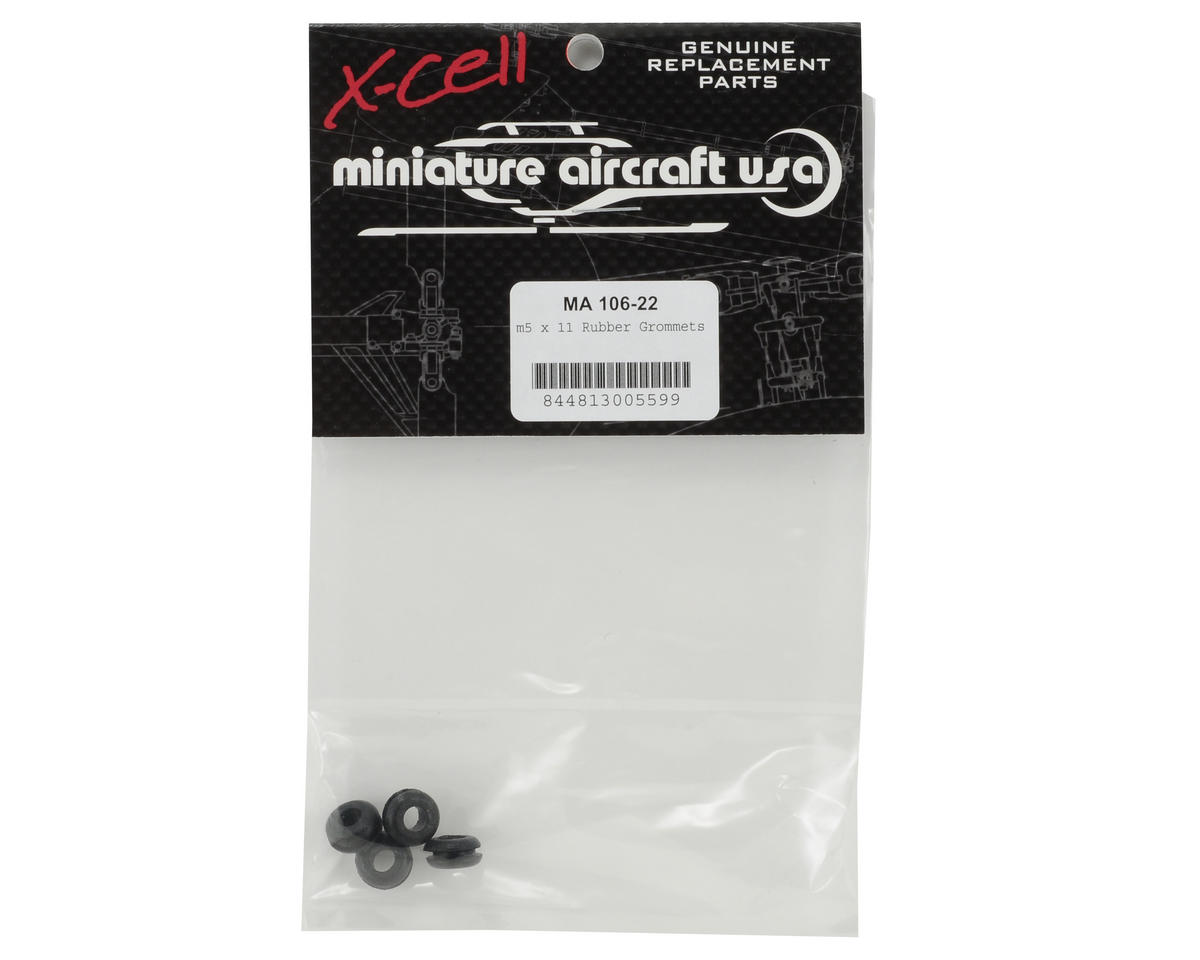 Miniature Aircraft 5x11mm Rubber Canopy Grommet Set (4) (Front)