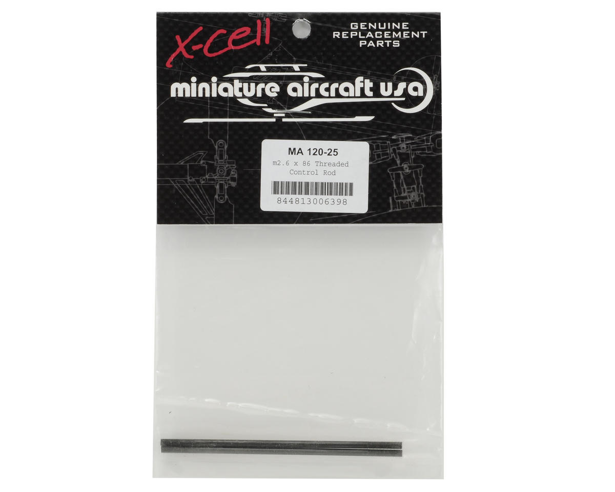 Miniature Aircraft 2.6x86mm Threaded Control Rod Set (2)