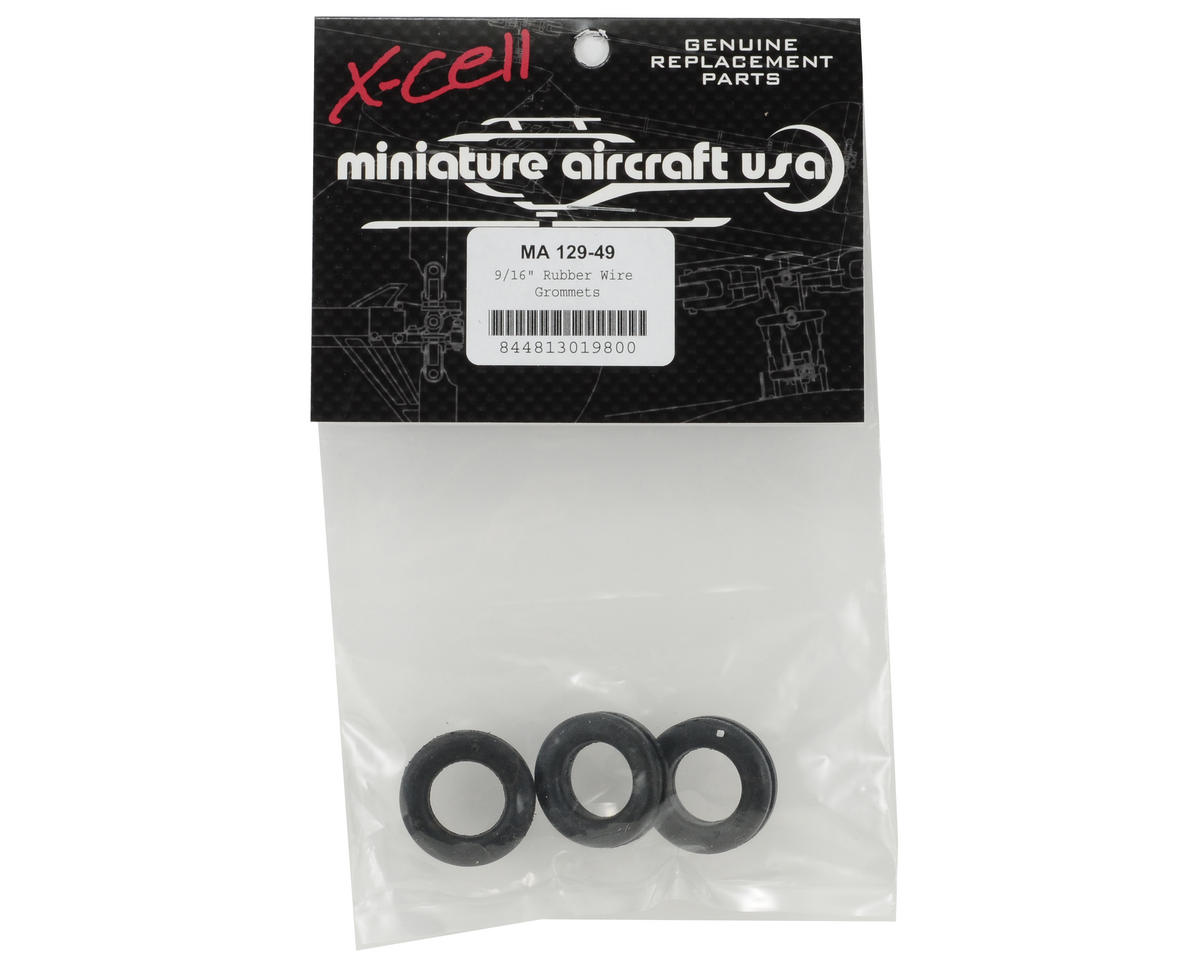 "Miniature Aircraft 9/16"" Rubber Wire Grommet Set (3)"