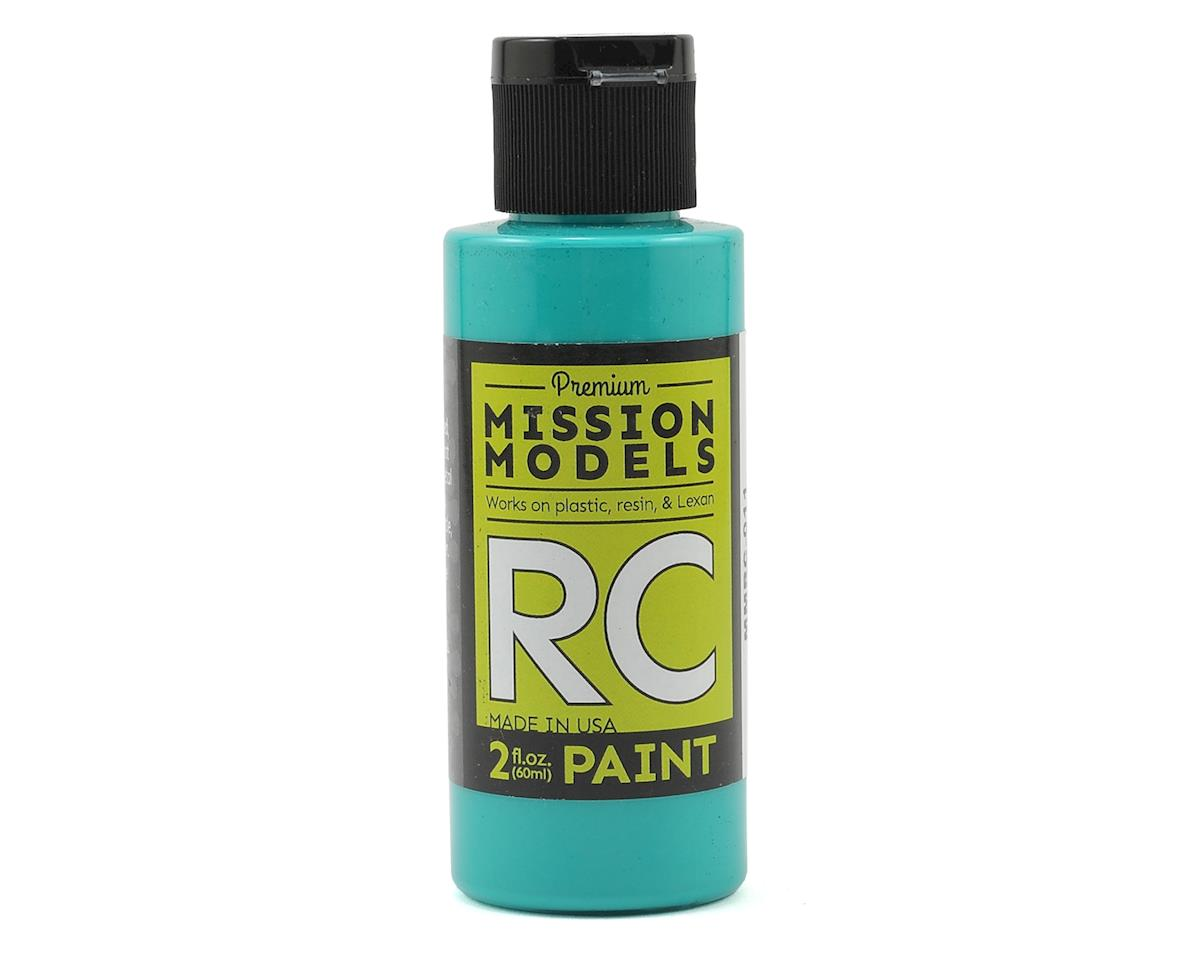 Aqua Blue Acrylic Lexan Body Paint (2oz) by Mission Models