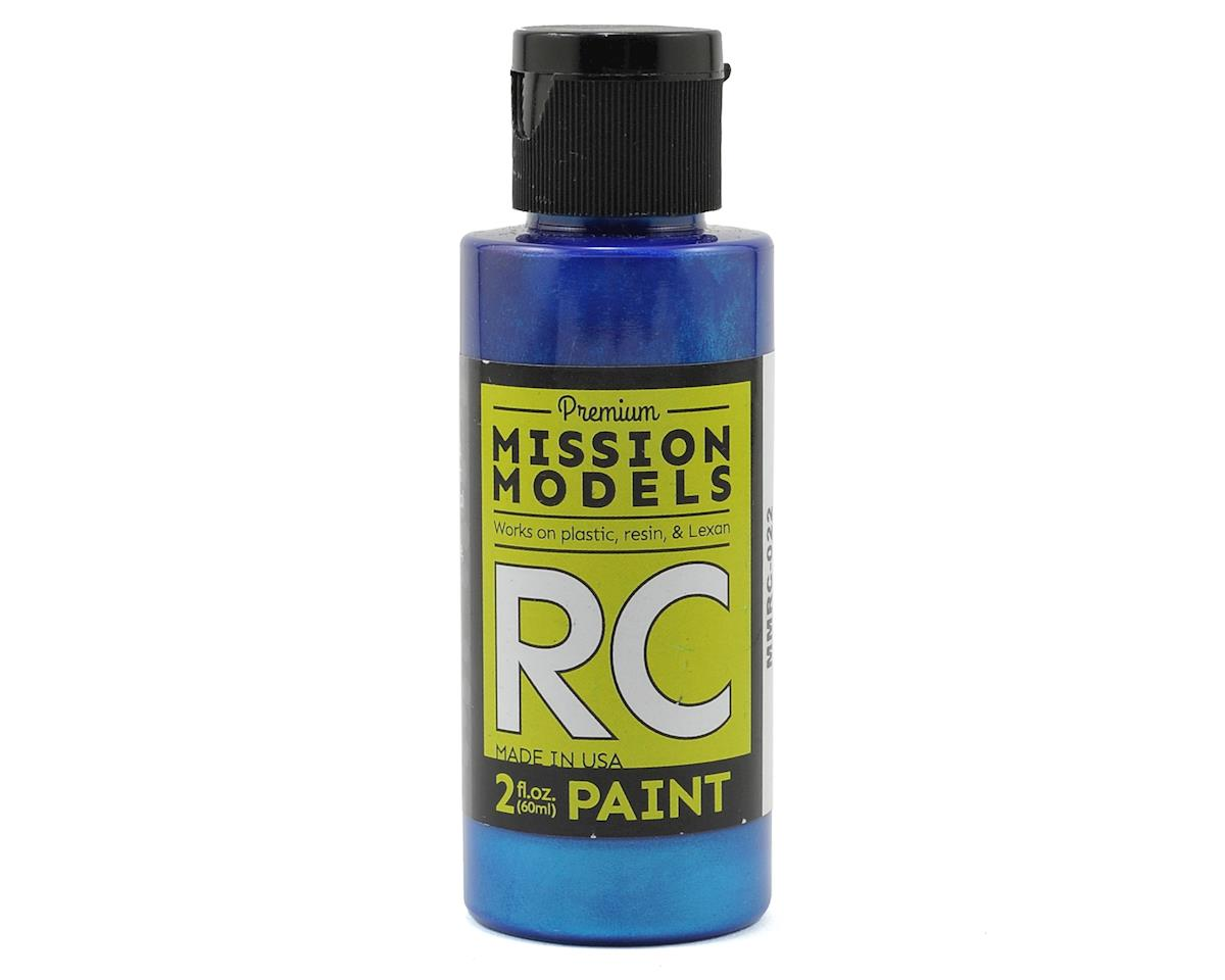Pearl Blue Acrylic Lexan Body Paint (2oz) by Mission Models