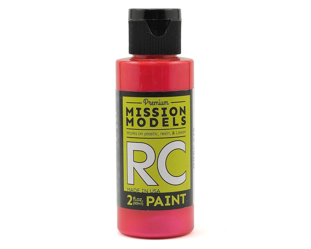 Iridescent Red Acrylic Lexan Body Paint (2oz) by Mission Models