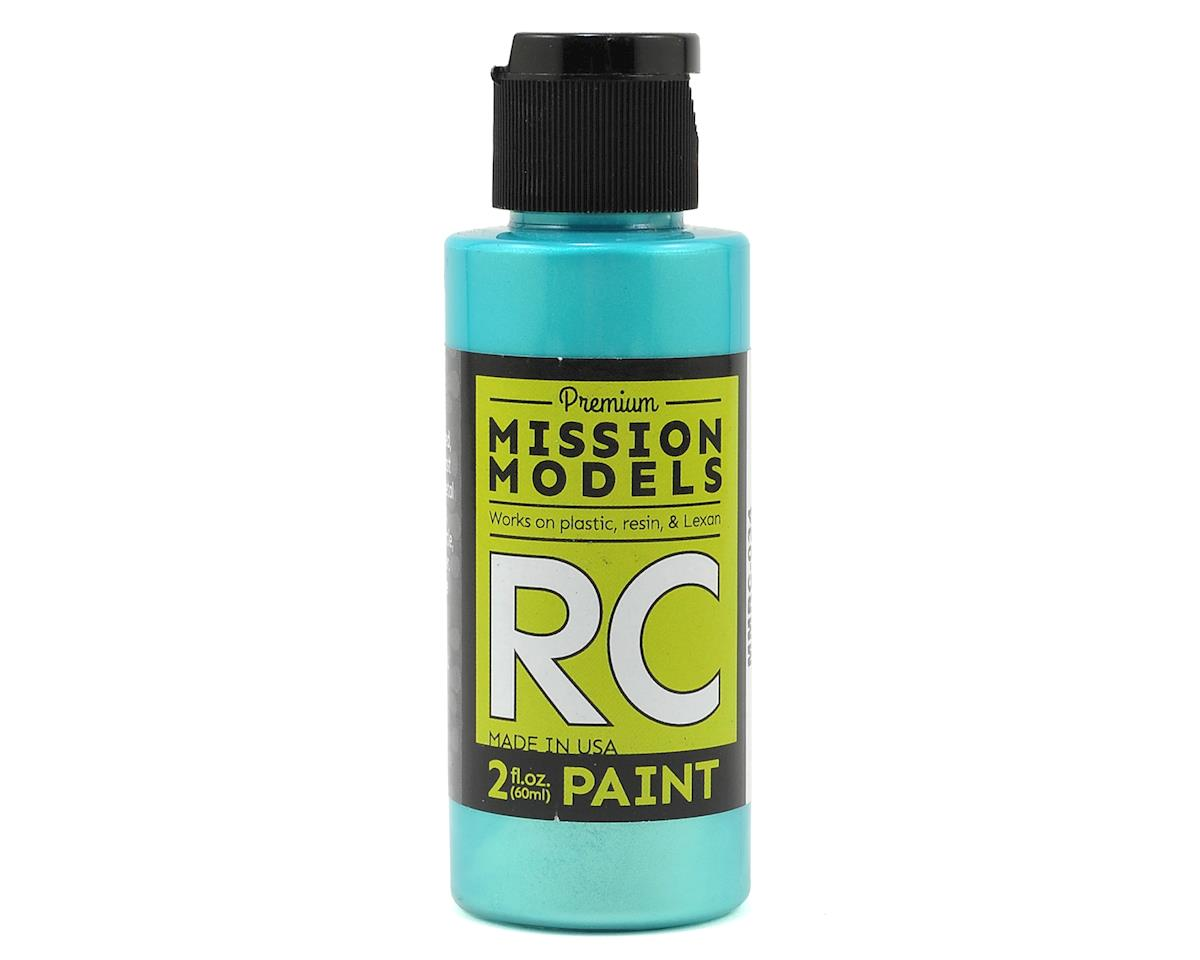 Iridescent Teal Acrylic Lexan Body Paint (2oz) by Mission Models