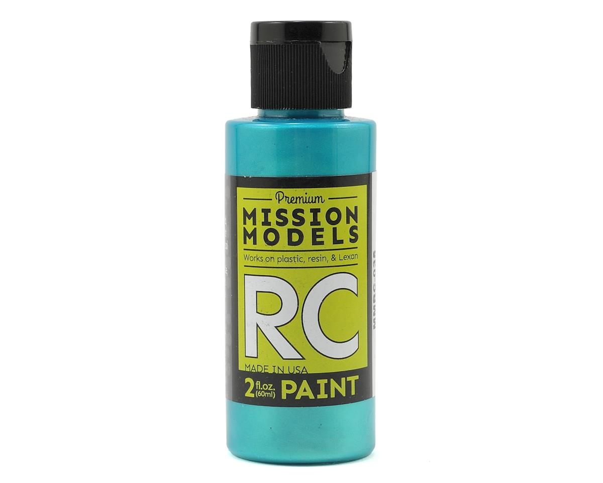 Iridescent Turquoise Acrylic Lexan Body Paint (2oz) by Mission Models