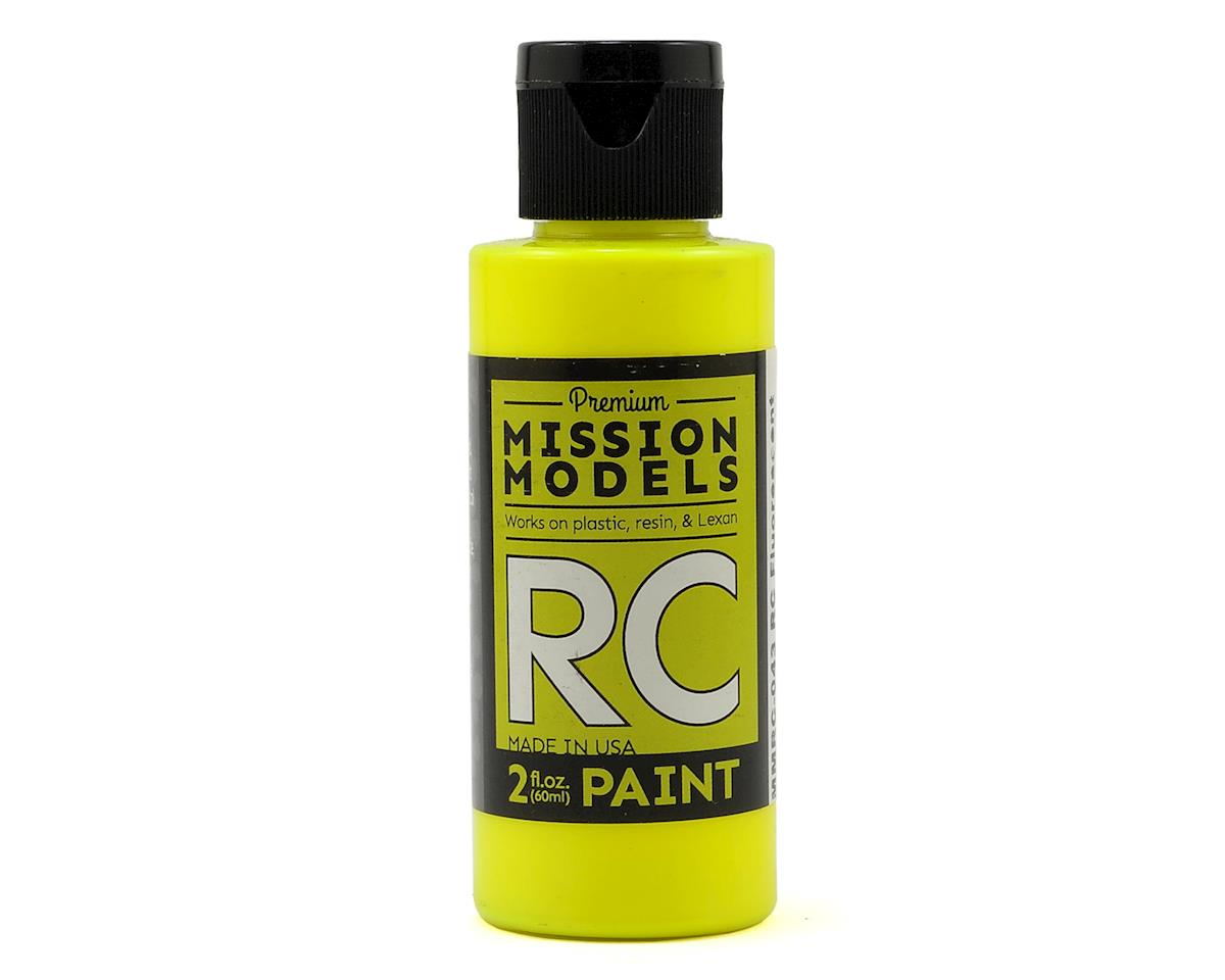 Mission Models Fluorescent Racing Yellow Acrylic Lexan Body Paint (2oz)