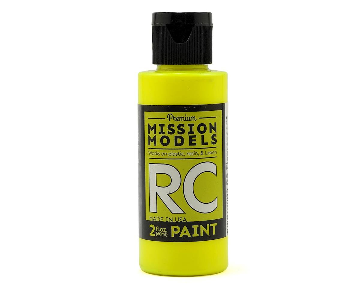 Fluorescent Racing Yellow Acrylic Lexan Body Paint (2oz) by Mission Models