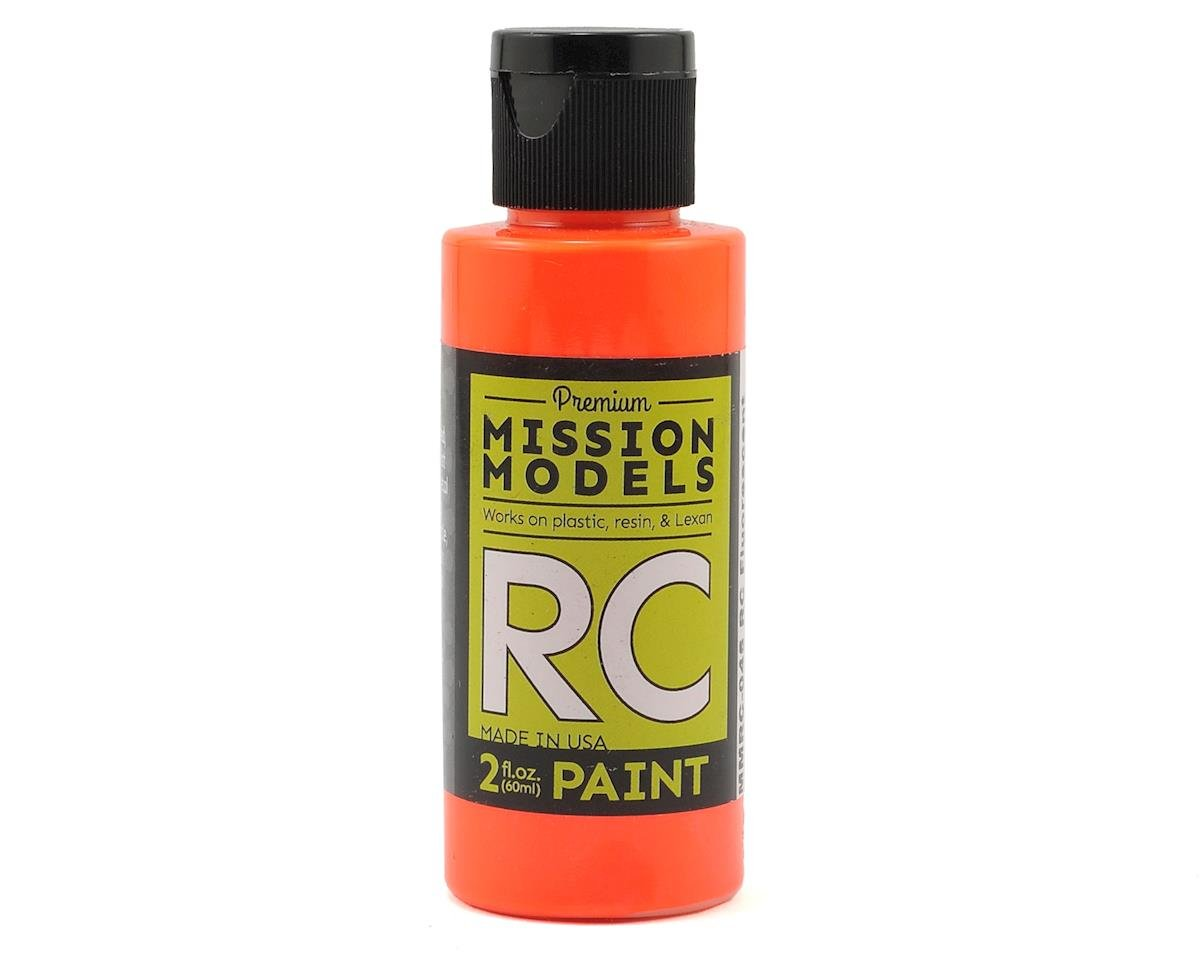 Mission Models Flourescent Racing Orange Acrylic Lexan Body Paint (2oz)