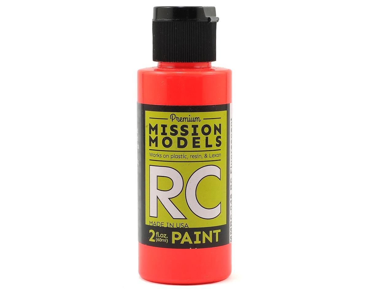 Fluorescent Racing Red Acrylic Lexan Body Paint (2oz) by Mission Models