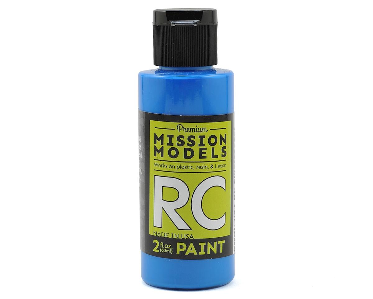 Mission Models Fluorescent Racing Blue Acrylic Lexan Body Paint (2oz)
