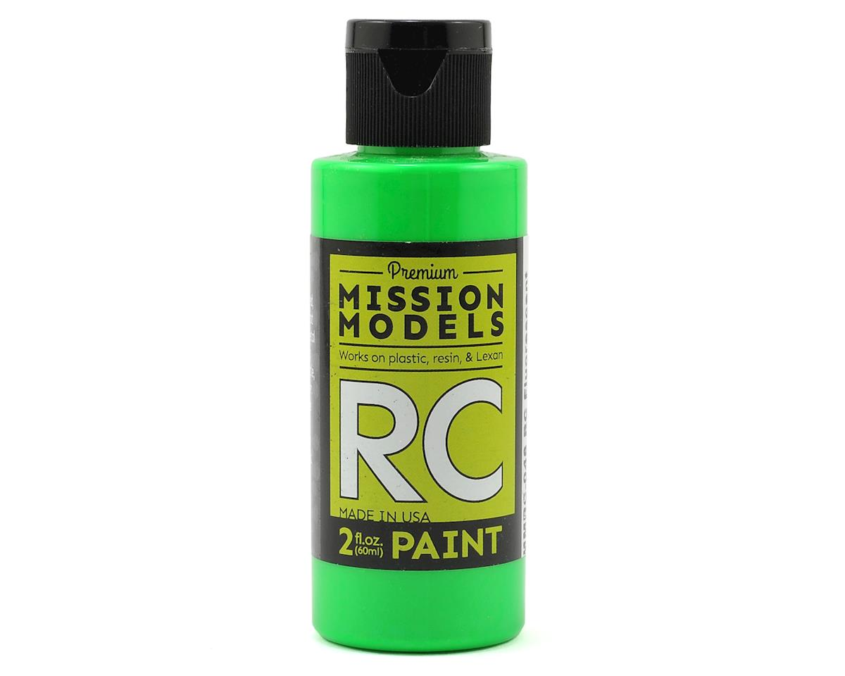 Flourescent Racing Green Acrylic Lexan Body Paint (2oz) by Mission Models