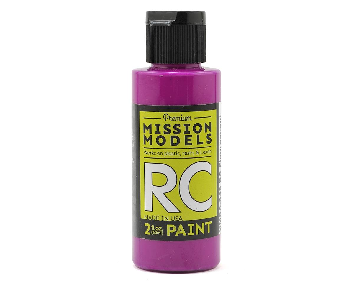 Fluorescent Racing Violet Acrylic Lexan Body Paint (2oz) by Mission Models