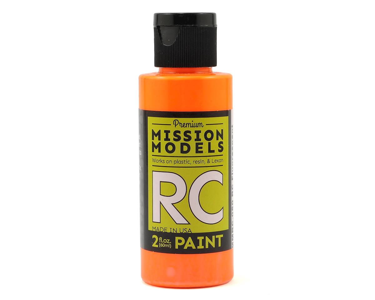 Fluorescent Racing Bright Orange Acrylic Lexan Body Paint (2oz) by Mission Models