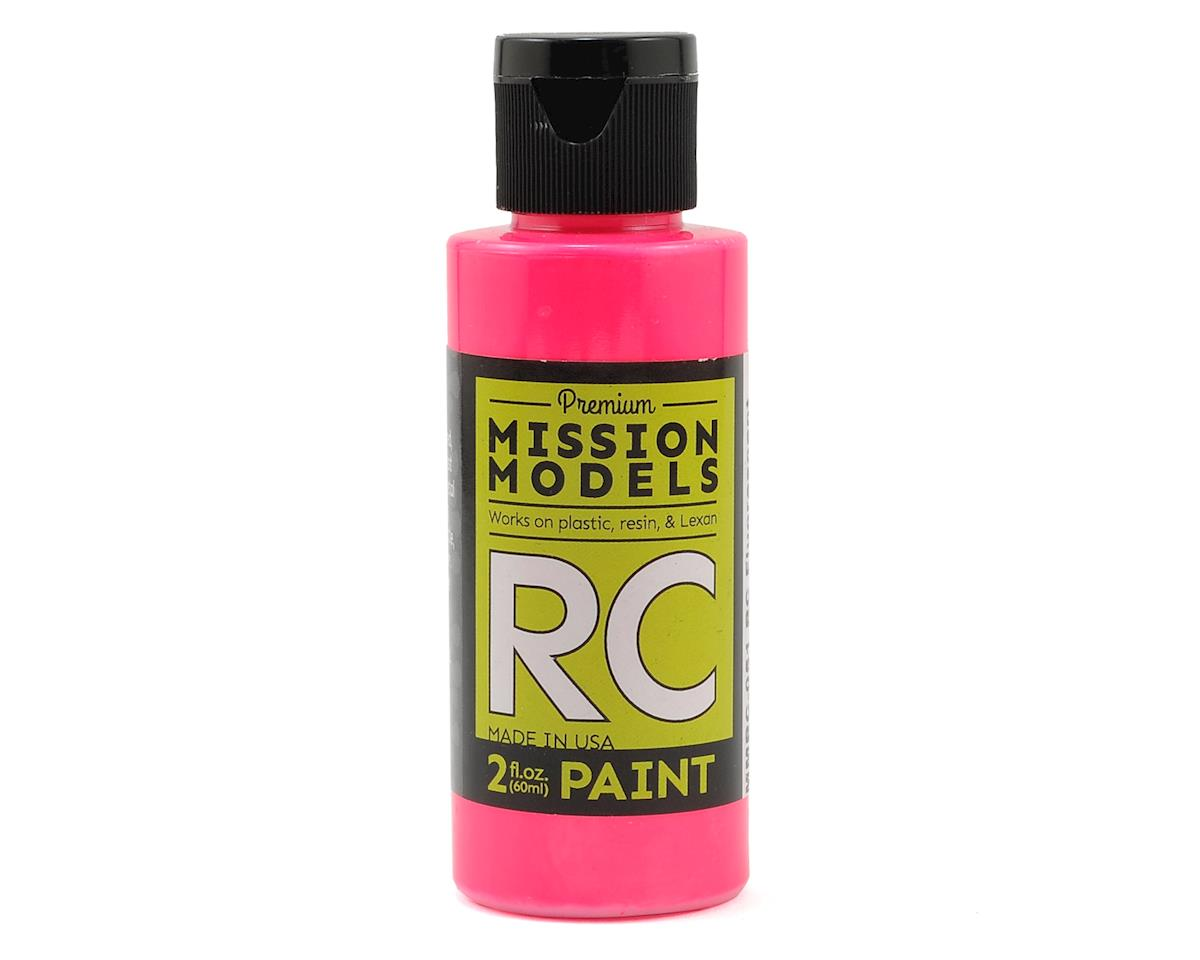 Fluorescent Racing Pink Acrylic Lexan Body Paint (2oz) by Mission Models