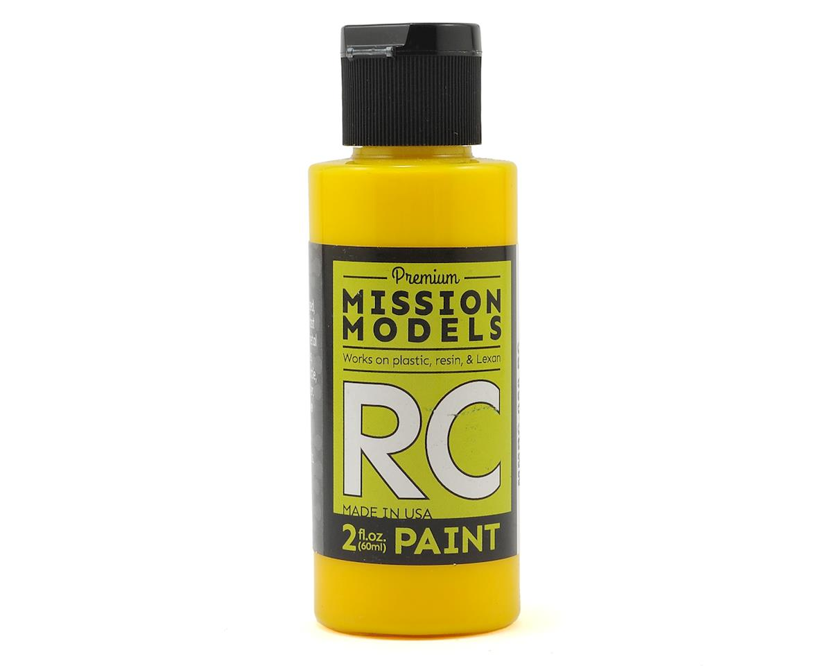 Translucent Yellow Acrylic Lexan Body Paint (2oz) by Mission Models