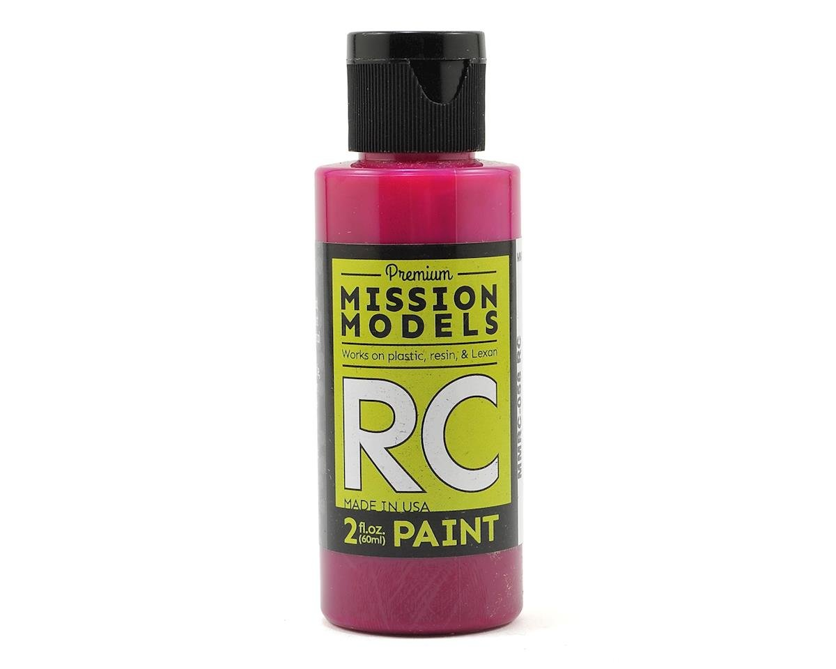 Translucent Pink Acrylic Lexan Body Paint (2oz) by Mission Models