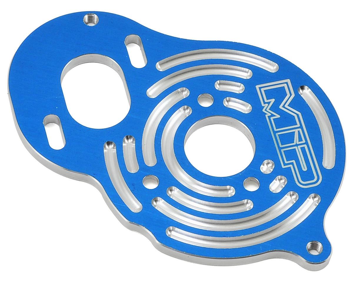 """MIP Aluminum """"BOX"""" B5M Motor Plate (Blue)"""