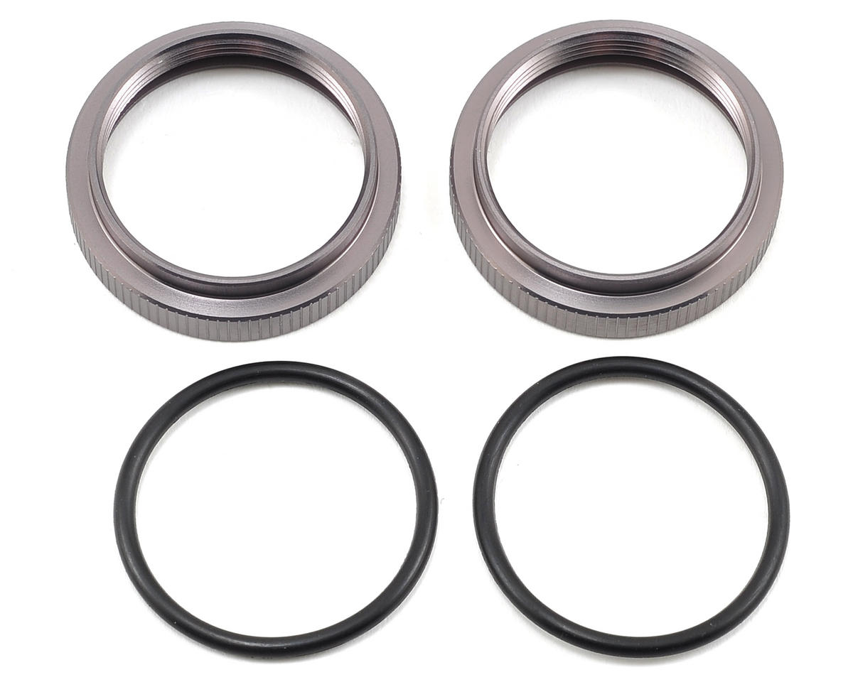 MIP 32mm Big Bore Spring Adjustment Nut (2) (Losi 5IVE-T)