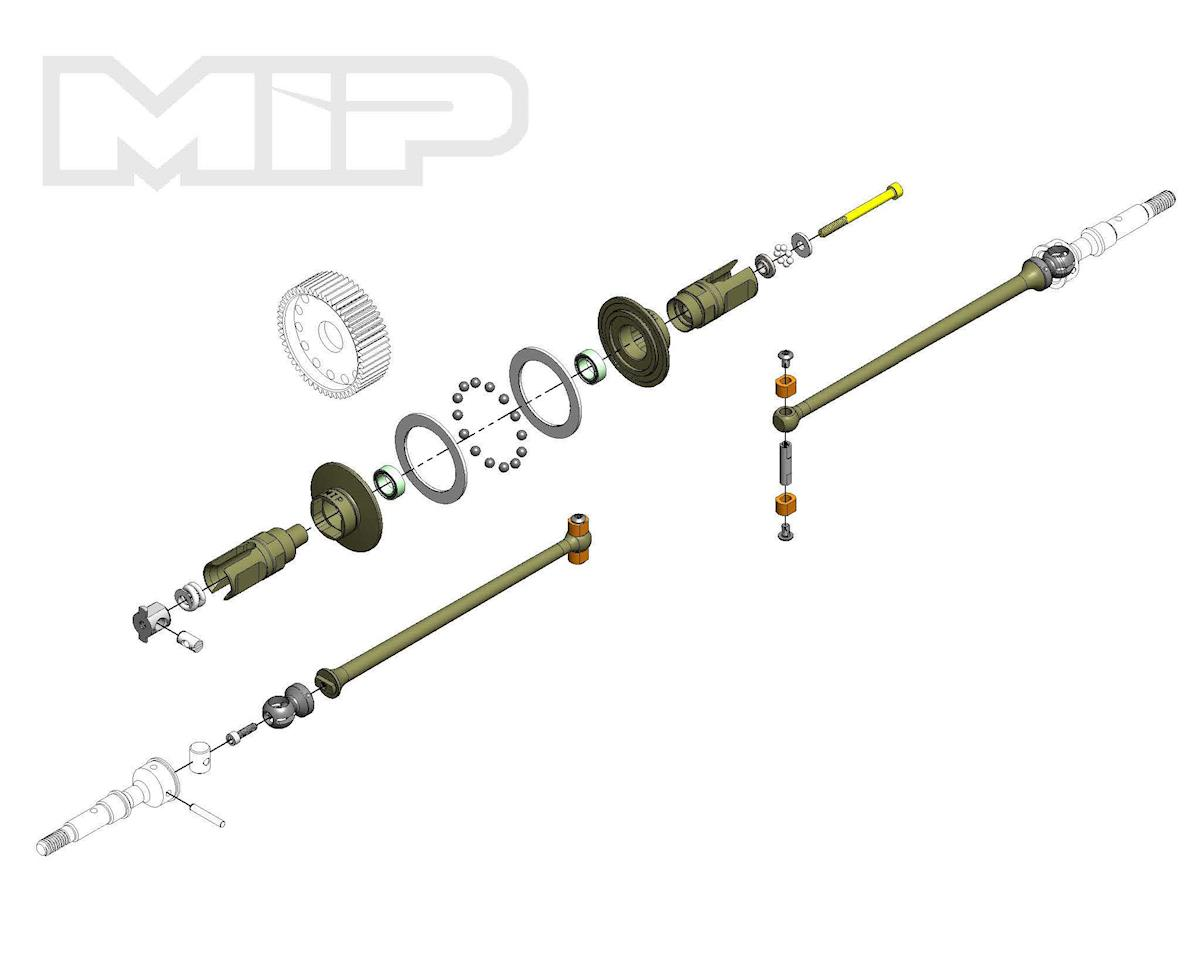 MIP Associated SC6.1 and T6.1 Bi-Metal Puck Kit (Team RC10 T6.1)