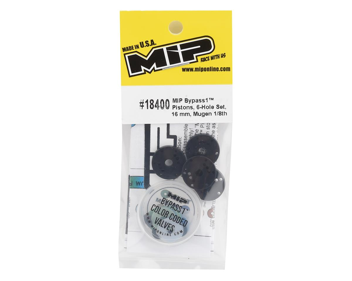 Image 2 for MIP Mugen 16mm 6 Hole Bypass1 Piston Set (4)