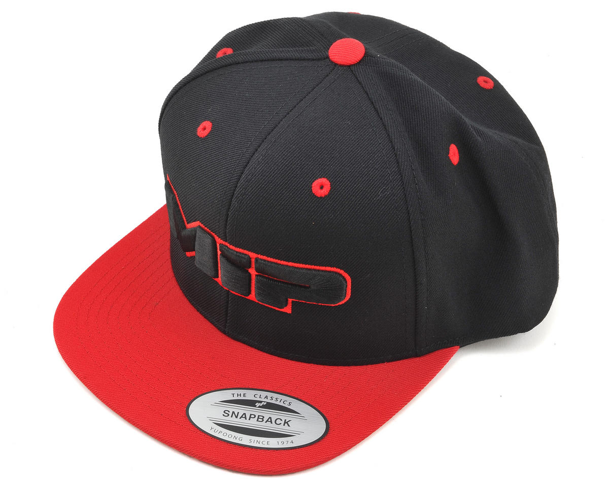 Snapback Flatbill Hat (Red) (One Size Fits Most) by MIP