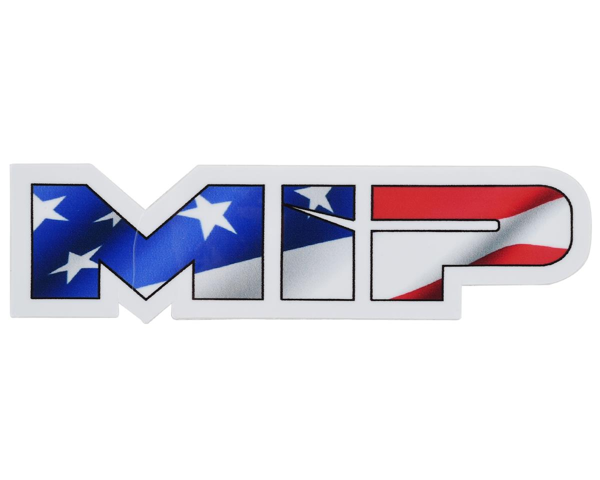 "MIP 3.73x1"" Die Cut American Flag Vinyl Sticker"
