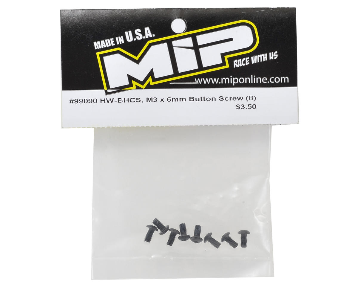 MIP 3x6mm Button Head Screw (8)