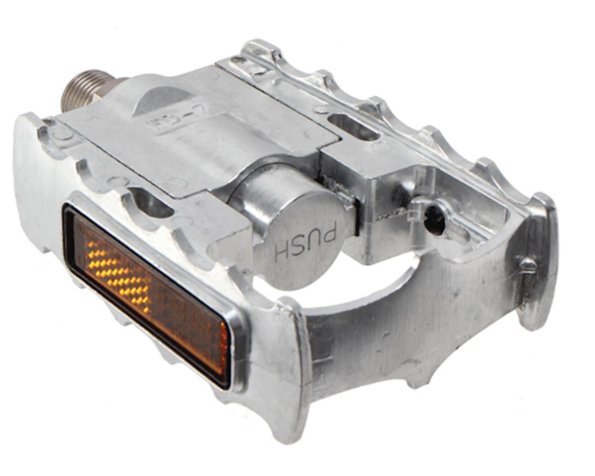 "FD-7 Folding Platform Pedal: 9/16"" Alloy Silver"