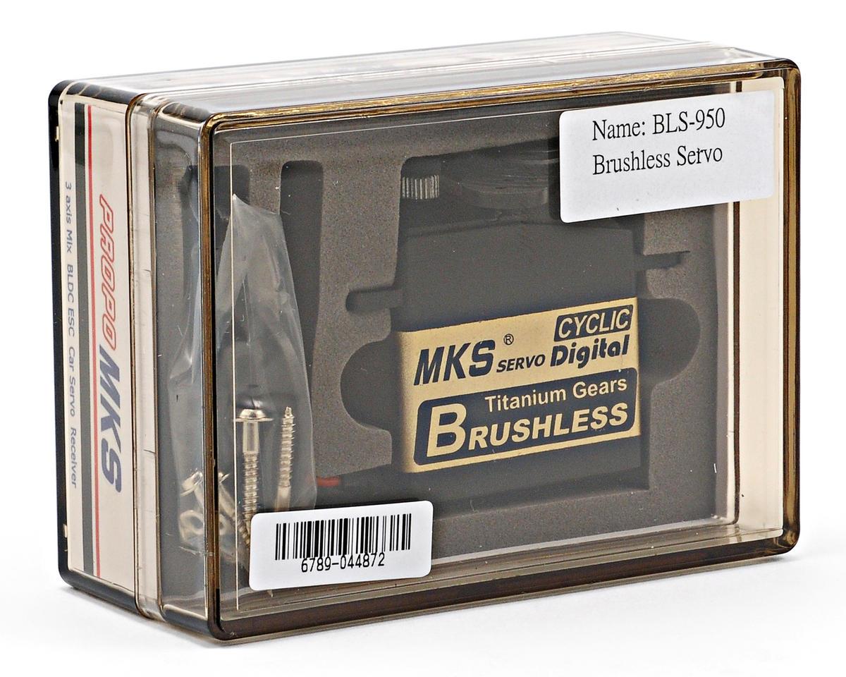 MKS BLS950 Brushless Ti-Gear High Torque Digital Cyclic Servo w/Aluminum Case