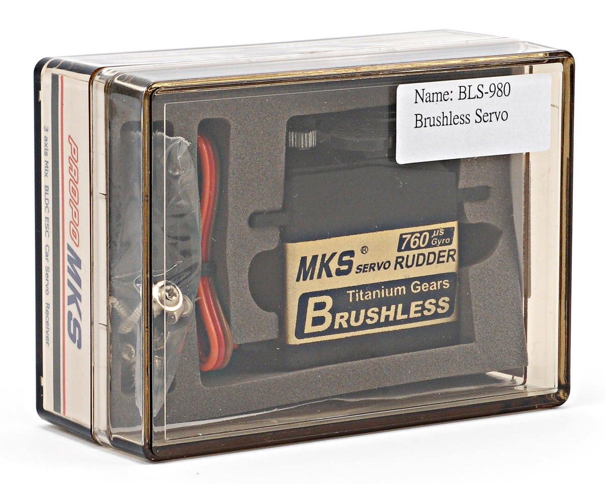 MKS BLS980 Brushless Titanium Gear High Speed Digital Tail Servo
