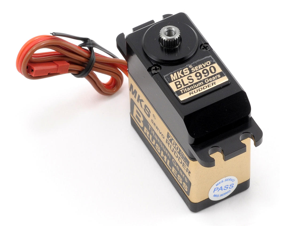 MKS Servos BLS990 Brushless Ti-Gear Ultra Speed Digital Tail Servo w/Aluminum Case