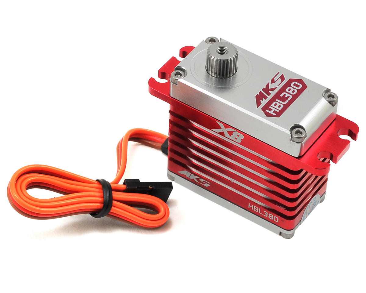 MKS Servos X8 HBL380 Brushless Ti-Gear High Torque Large Scale Servo (High Voltage)
