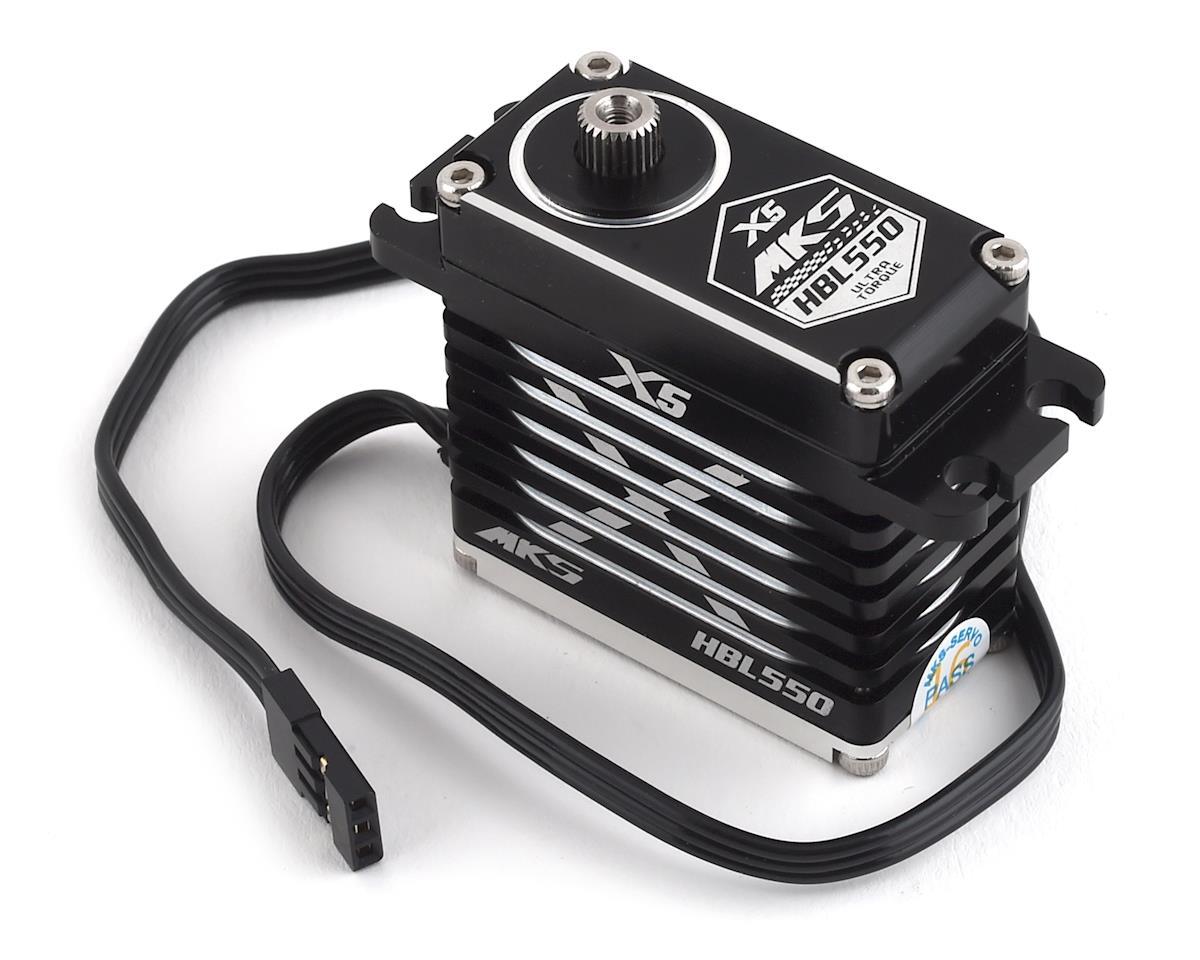 MKS X5 HBL550 Brushless Titanium Gear High Torque Digital Servo (High Voltage)