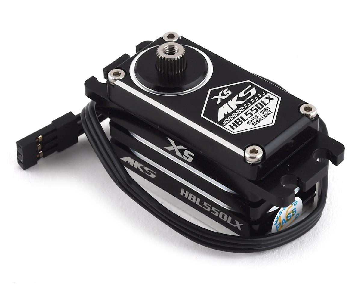 MKS X5 HBL550LX Brushless Titanium Gear Low Profile Digital Servo (High Voltage)