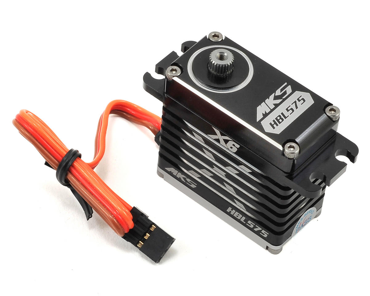 X6 HBL575 Brushless Titanium Gear High Speed Digital Servo (High Voltage) by MKS