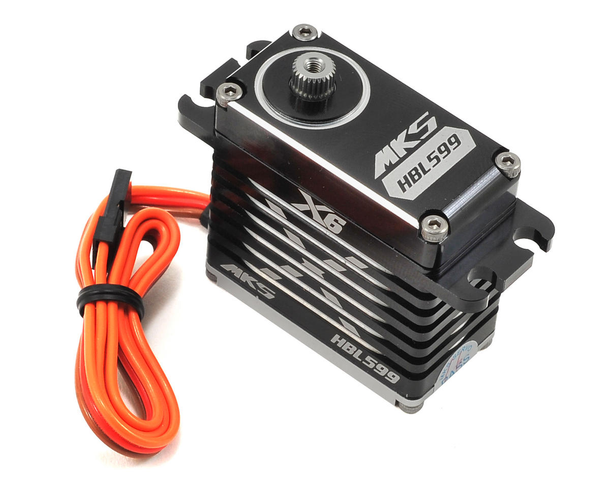X6 HBL599 Brushless Titanium Gear High Torque Digital Servo (High Voltage) by MKS